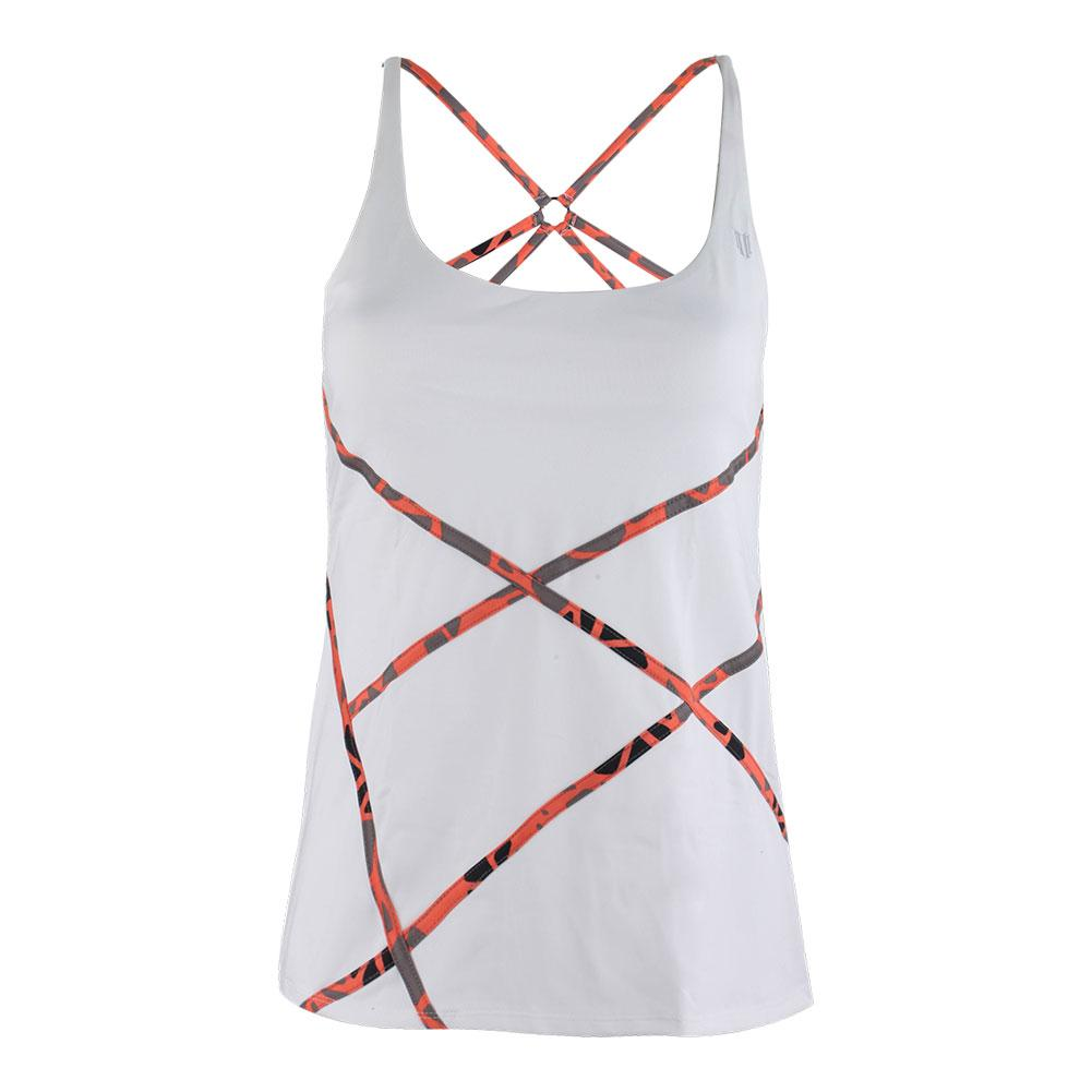 Women's Trapeze Tennis Tank White