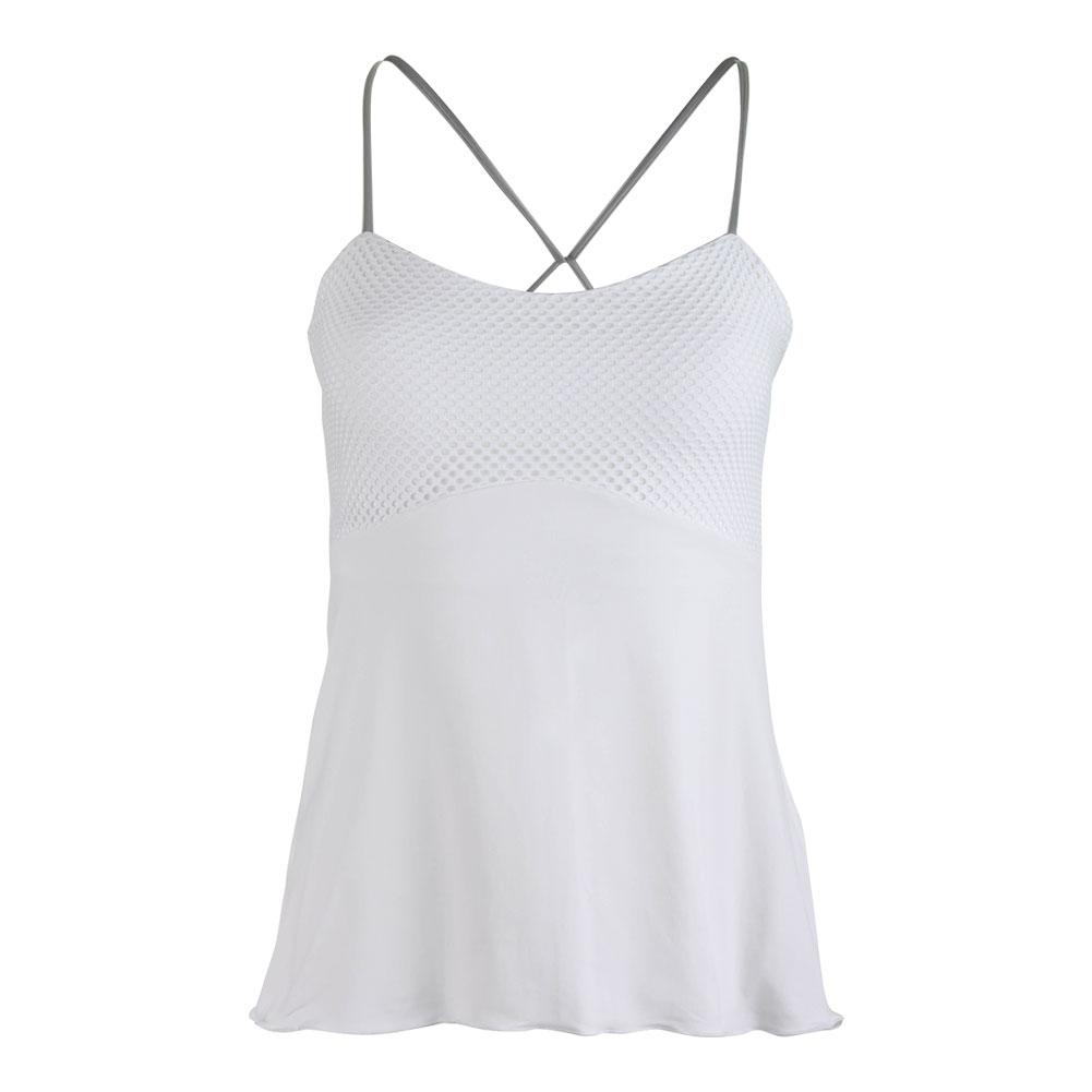 Women's Spaghetti- Strap Tennis Top White