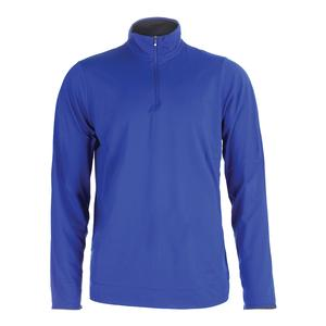 Men`s Lightweight Performance Interlock Active Royal and Union Gray Heather