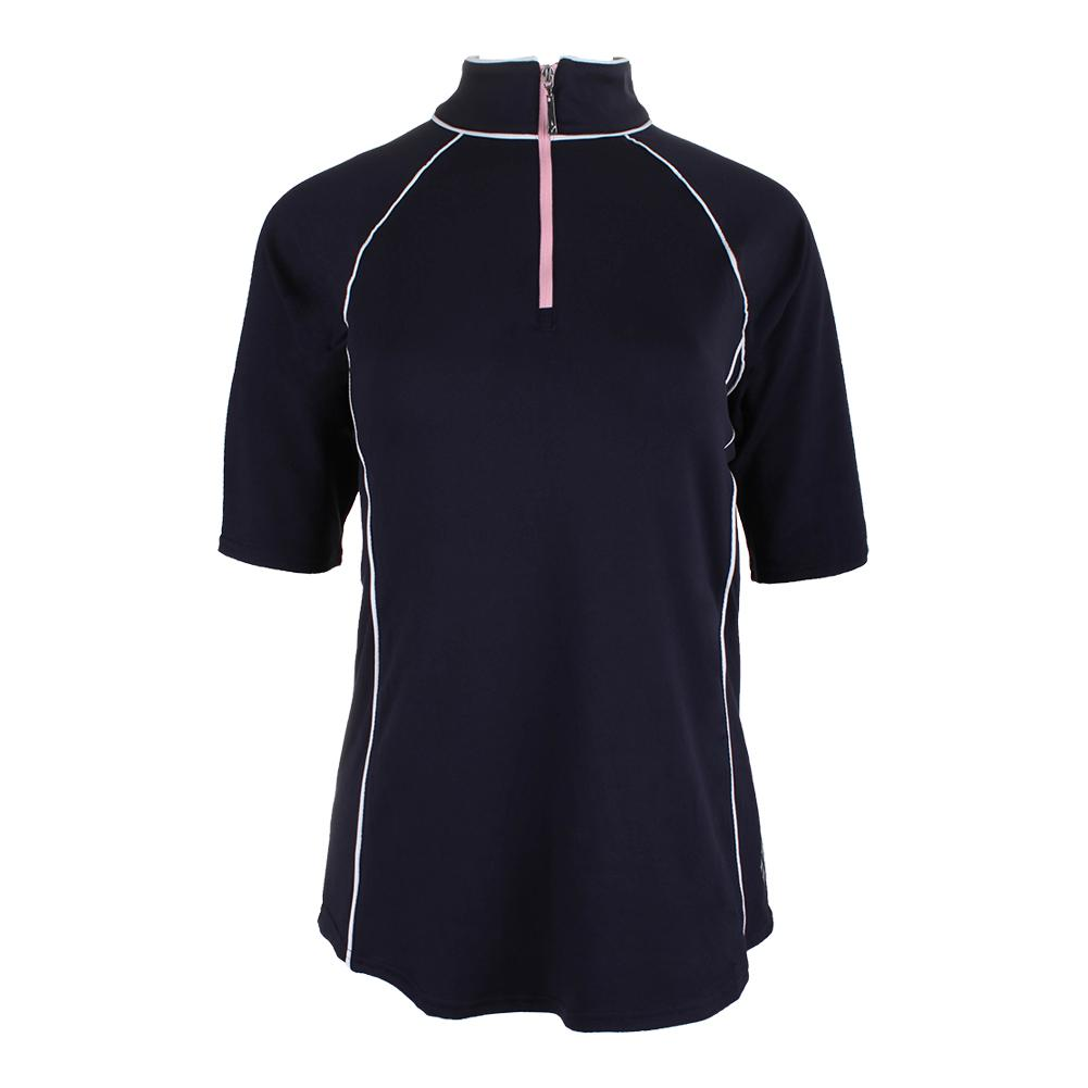 Women's 1/2 Sleeve Mock Tennis Top Midnight