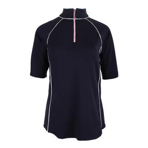 Women`s 1/2 Sleeve Mock Tennis Top Midnight
