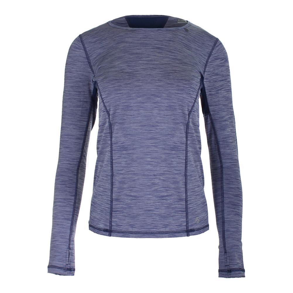Women's Interval Long Sleeve Tennis Top Violet And Ocean