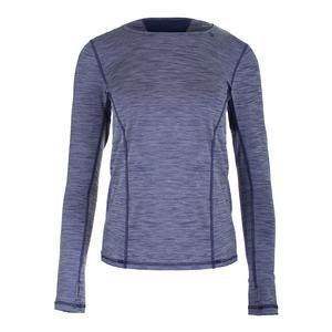 Women`s Interval Long Sleeve Tennis Top Violet and Ocean