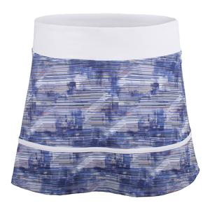 Women`s Hustle Printed Tennis Skort White Horizon