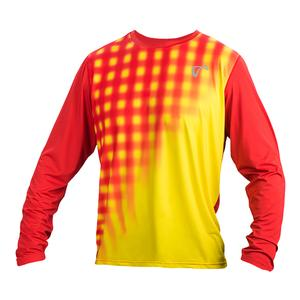 Men`s Racquet Long Sleeve Tennis Top Buttercup and Poppy