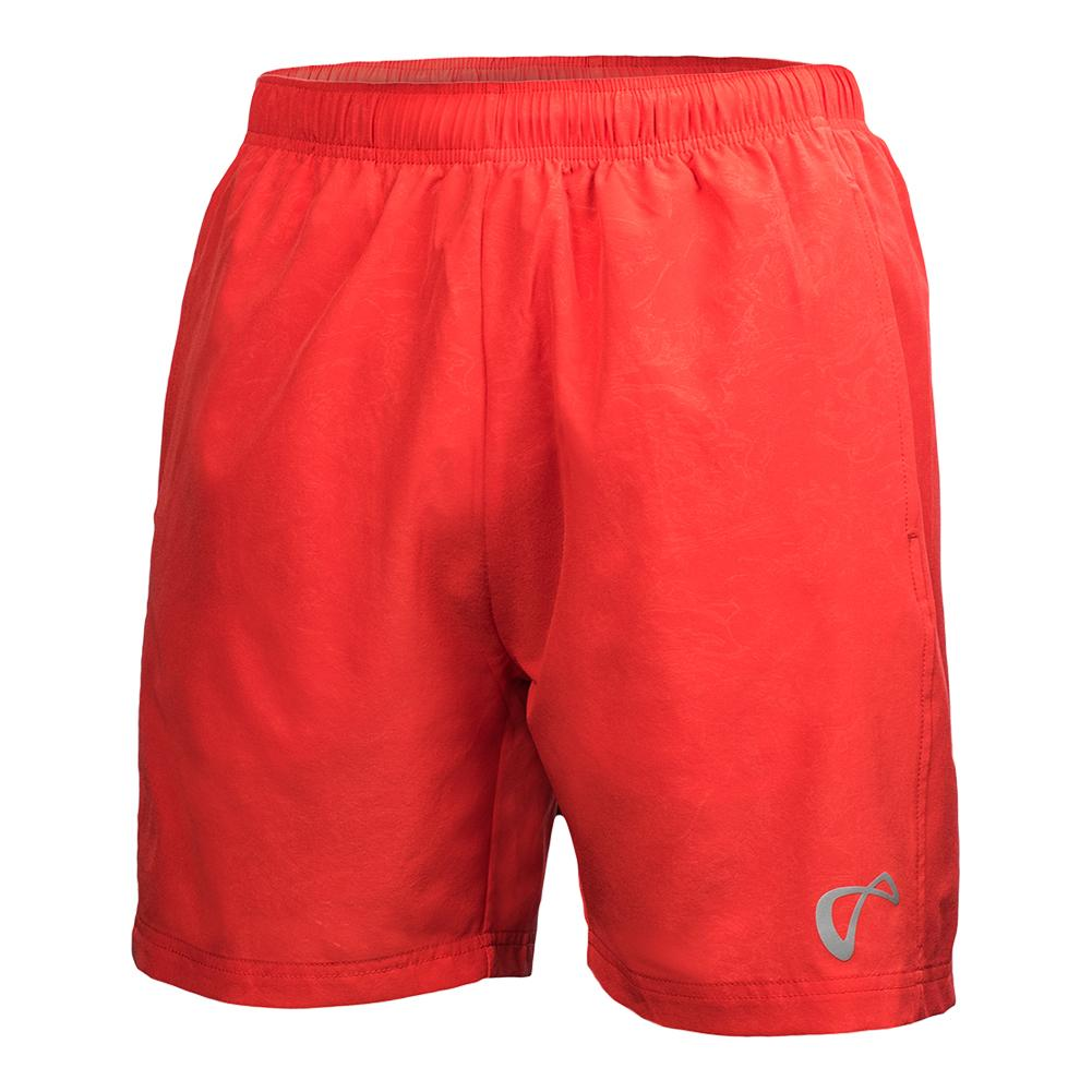 Boys ` Brushed Emboss Woven Tennis Short Poppy
