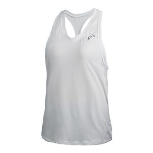 Girls` Racerback Tennis Tank White