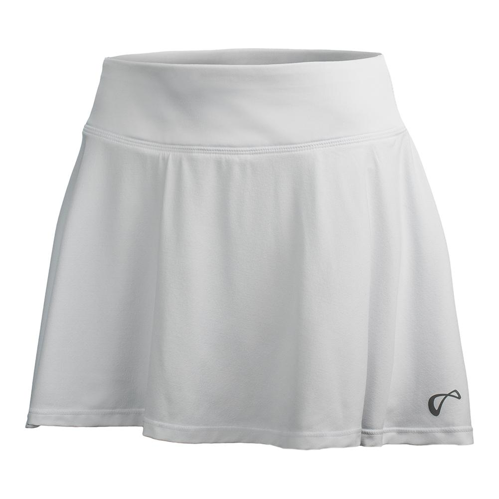 Girls ` Circle Tennis Skort White