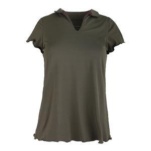 Women`s Collar Tennis Top Green