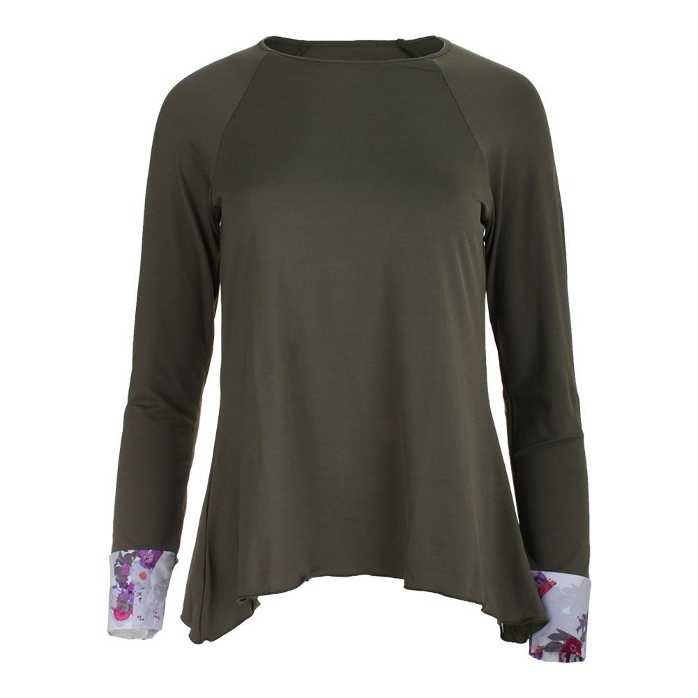 Women's Long Sleeve Tennis Top Green