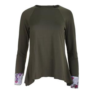 Women`s Long Sleeve Tennis Top Green