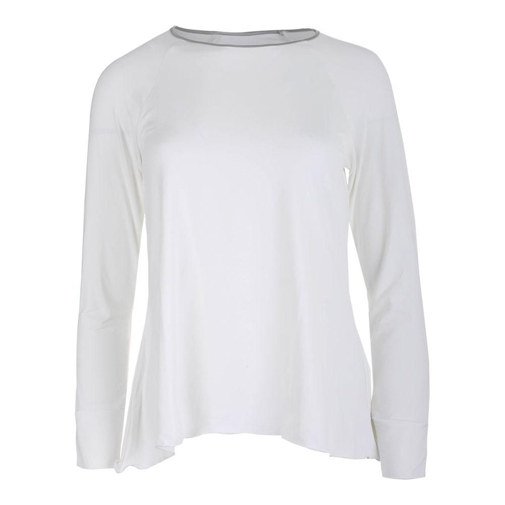 Women's Long Sleeve Tennis Top White