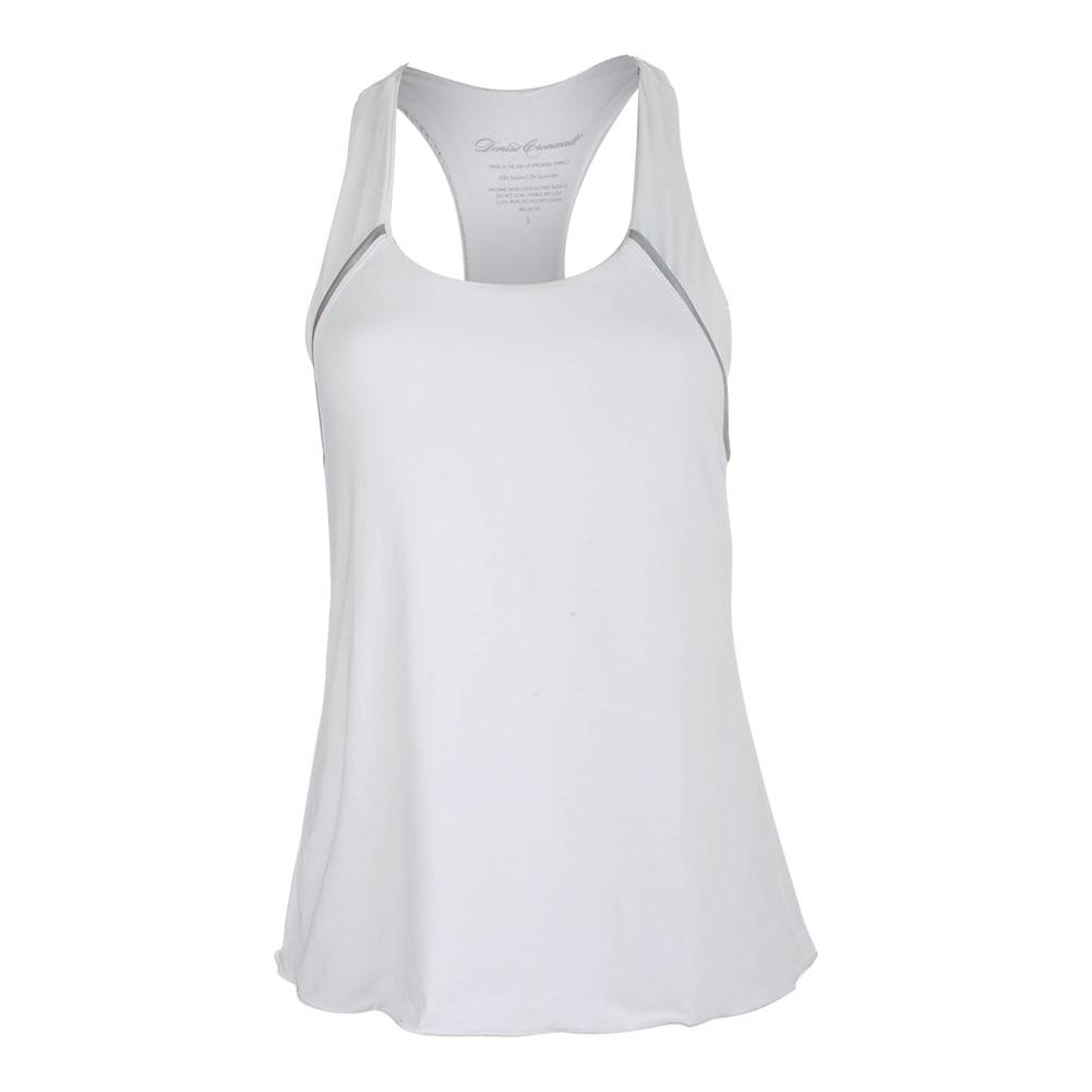 Women's Racerback Tennis Top White