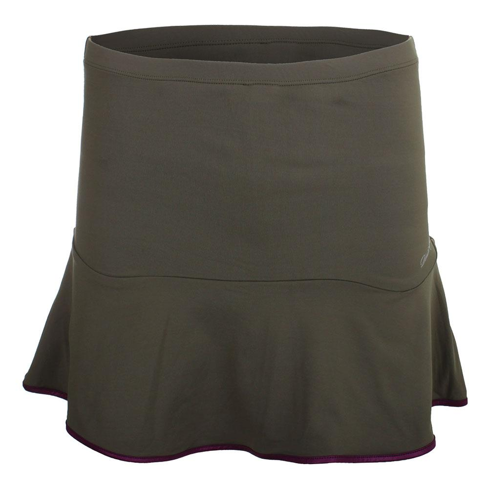 Women's Solid Tennis Skort Green