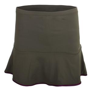 Women`s Solid Tennis Skort Green
