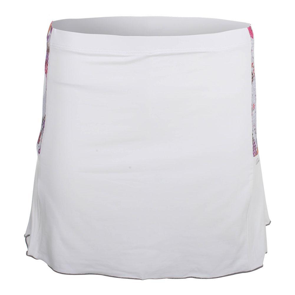 Women's Gabby Tennis Skort White And Print