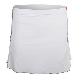Women`s Gabby Tennis Skort White and Print