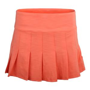 Women`s Flutter 13 Inch Tennis Skort Tangerine