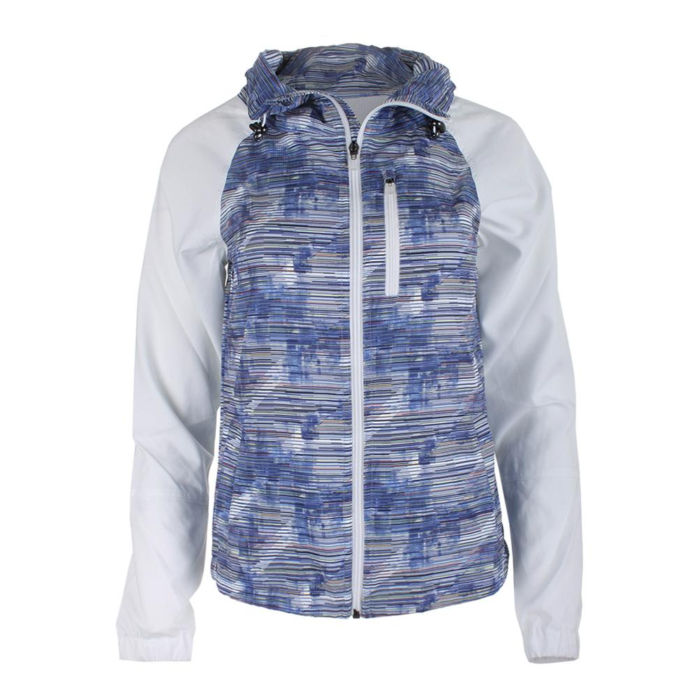 Women's Game Day Printed Tennis Jacket Horizon And White