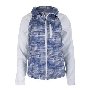 Women`s Game Day Printed Tennis Jacket Horizon and White