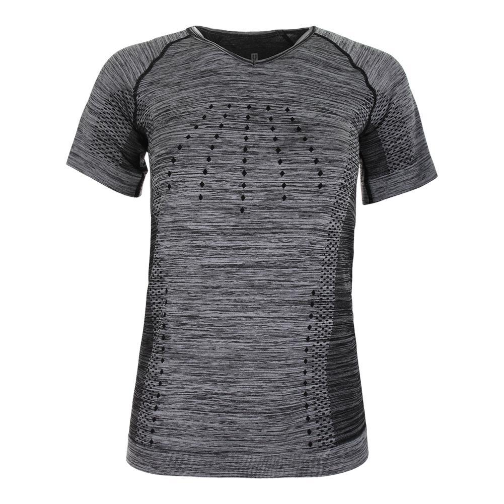 Women's Ideal Short Sleeve Tennis Top Black