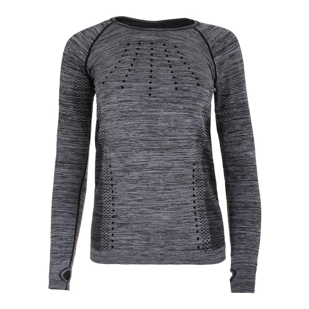 Women's Absolute Long Sleeve Tennis Top Black