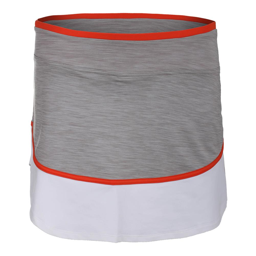 Women's Sharp Tennis Skort Taupe And White