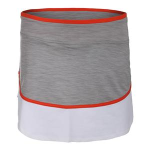 Women`s Sharp Tennis Skort Taupe and White
