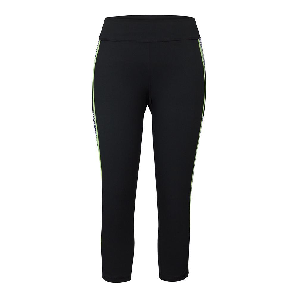 Women's Rae Compression Tennis Legging Black And Target Line Indigo