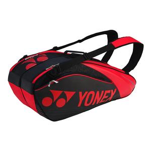 Pro Nine Pack Tennis Bag Black and Red