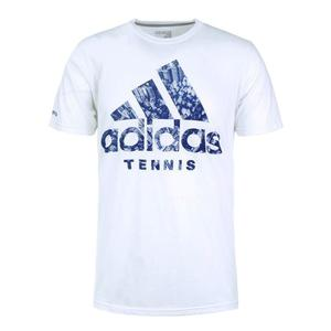 Men`s BOS Tennis NY Skyline Tee White