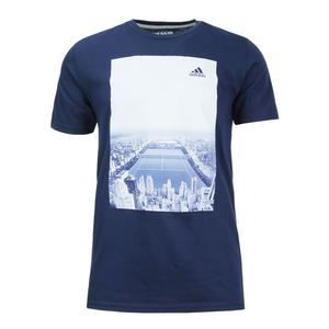 Men`s Central Court Tennis Tee Collegiate Navy