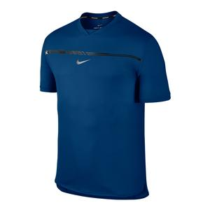 Men`s Rafa Aeroreact Challenger Tennis Top Blue Jay