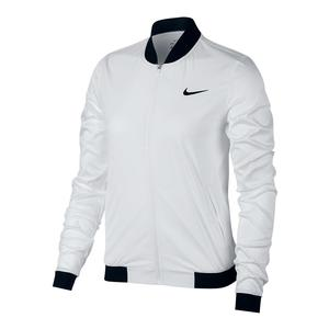 Women`s Maria Court Tennis Jacket White and Black