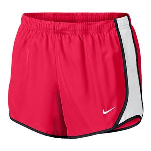 Girls` Dry Tempo Running Short Racer Pink and White