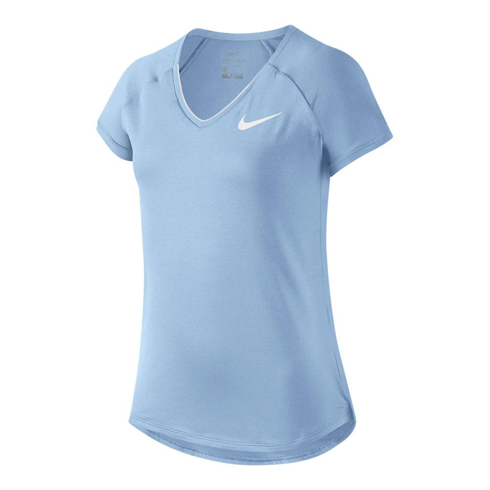 Girls ` Pure Tennis Top Hydrogen Blue