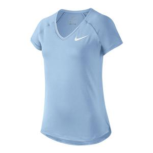 Girls` Pure Tennis Top Hydrogen Blue