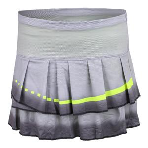 Women`s Love Not War Pleat Tier Tennis Skort Eclipse