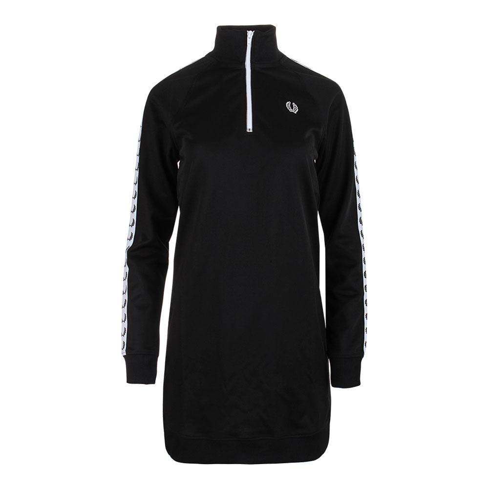 Women's Taped Track Dress Black