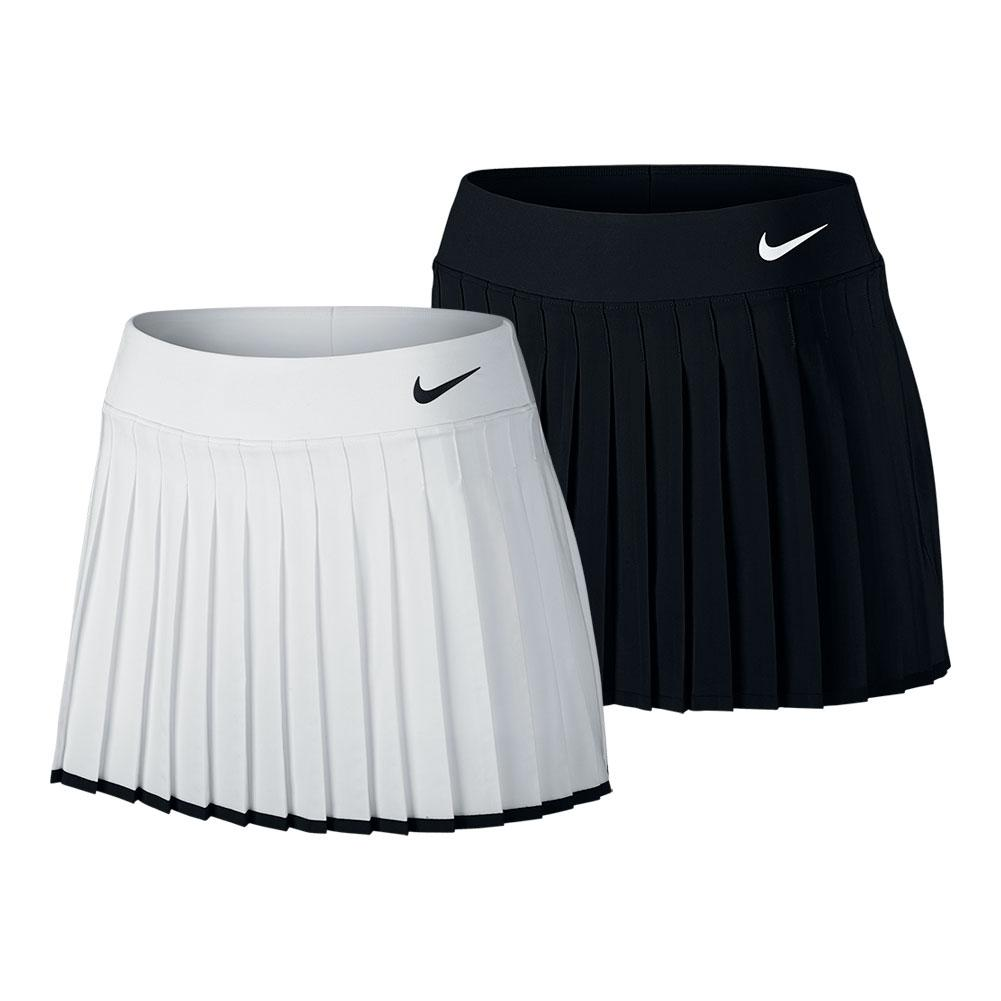 Clothing, Shoes & Accessories NIKE Power Women's Victory Skirt Dri-Fit Activewear Tennis Skirt White Large New
