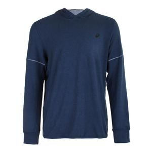 Men`s Lightweight Fleece Hoody Insignia Blue Heather