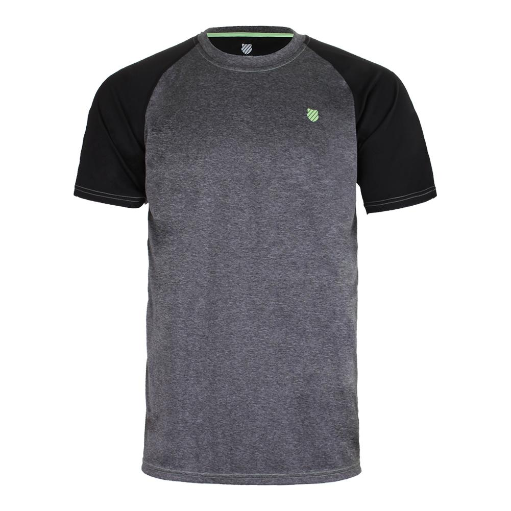 Men's Backcourt Tennis Crew Puma Black And Gray Marl