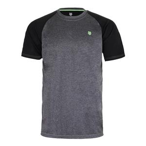 Men`s Backcourt Tennis Crew Puma Black and Gray Marl