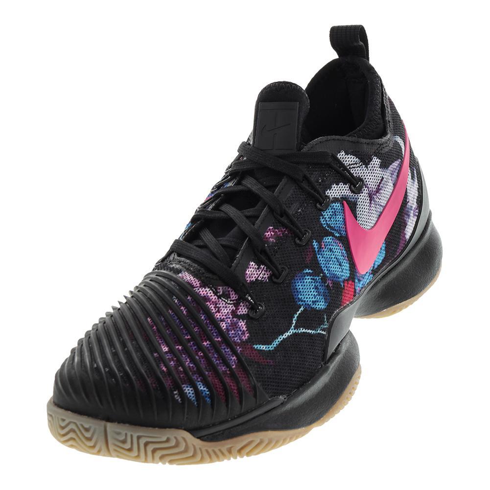 Men's Air Zoom Ultra React Tennis Shoes Black And Pearl Pink