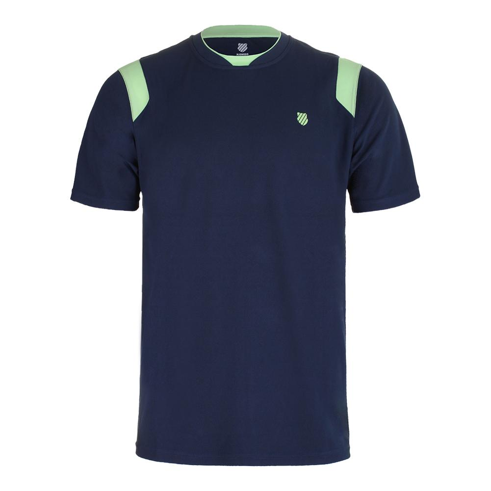 Men's Bb Tennis Crew Insignia Blue And Paradise Green