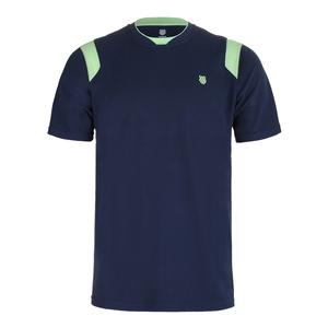Men`s BB Tennis Crew Insignia Blue and Paradise Green