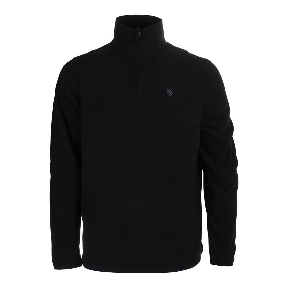 Men's Long Sleeve Tennis Pullover Puma Black And Dark Shadow