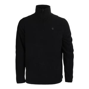 Men`s Long Sleeve Tennis Pullover Puma Black and Dark Shadow
