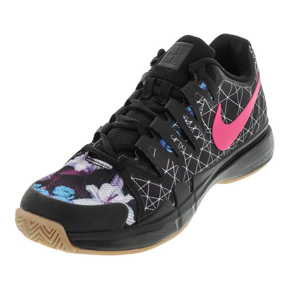 Men's Air Zoom Vapor 9.5 Tour Tennis Shoes Black And Pearl Pink