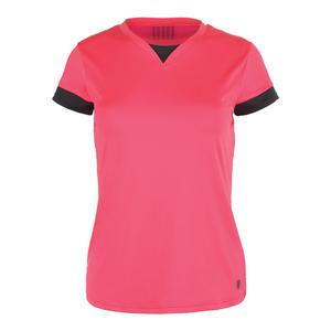 Women`s Pace Cap Sleeve Tennis Top Calypso Coral Dark Shadow